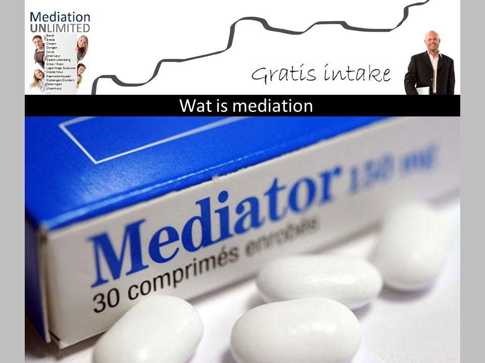 Mediation is een gesprekstechniek die gericht is om beschadiging van de relatie tussen partijen tot een minimum te beperken en voor de toekomst waar m