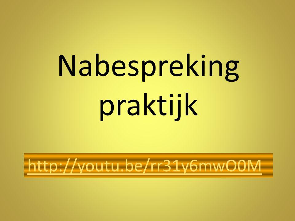 Nabespreking praktijk http://youtu.be/rr31y6mwO0M