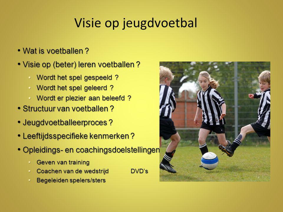 Visie op jeugdvoetbal Wat is voetballen .Visie op (beter) leren voetballen .