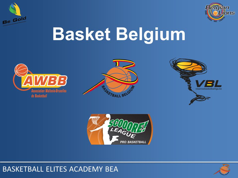 - Mot des présidents / woord van de voorzitters - Groupe de travail / Werkgroep - Constat / Constatatie Introduction- Inleiding BASKETBALL ELITES ACADEMY BEA