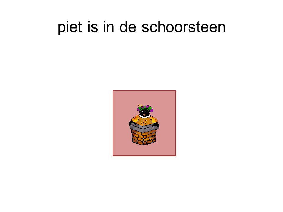 piet is in de schoorsteen