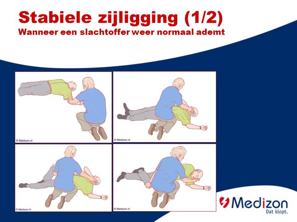 Stabiele zijligging (1/2) Wanneer een slachtoffer weer normaal ademt