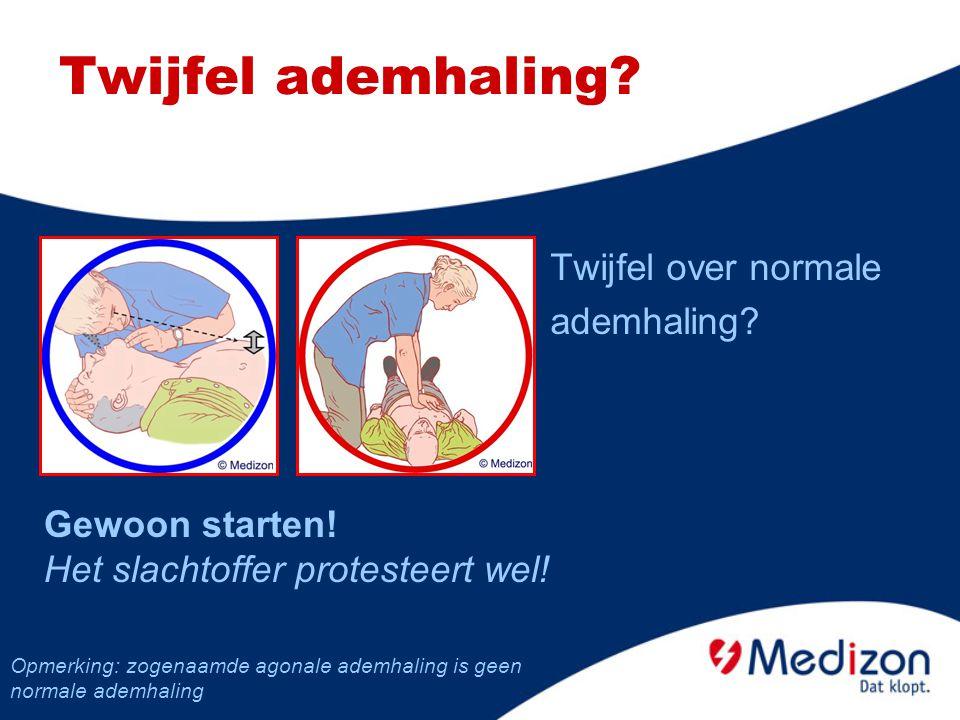 Stabiele zijligging (2/2) Wanneer een slachtoffer weer normaal ademt