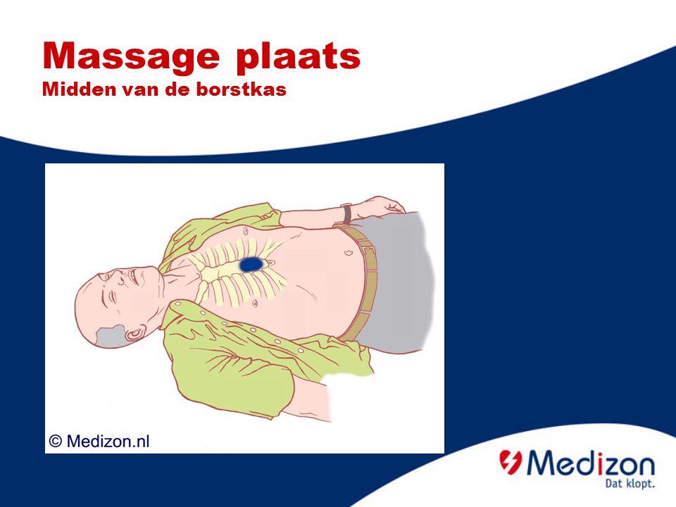 Massage plaats Midden van de borstkas