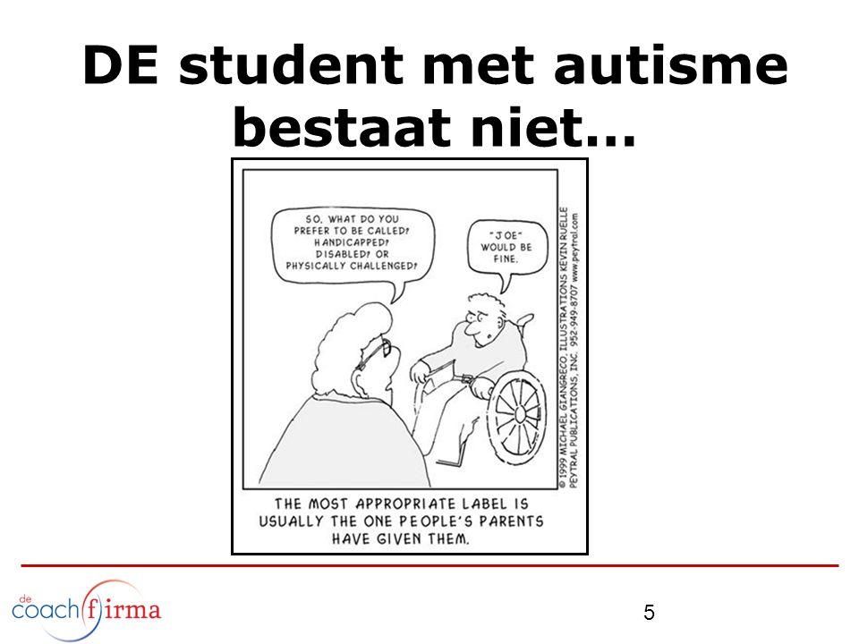 5 DE student met autisme bestaat niet…