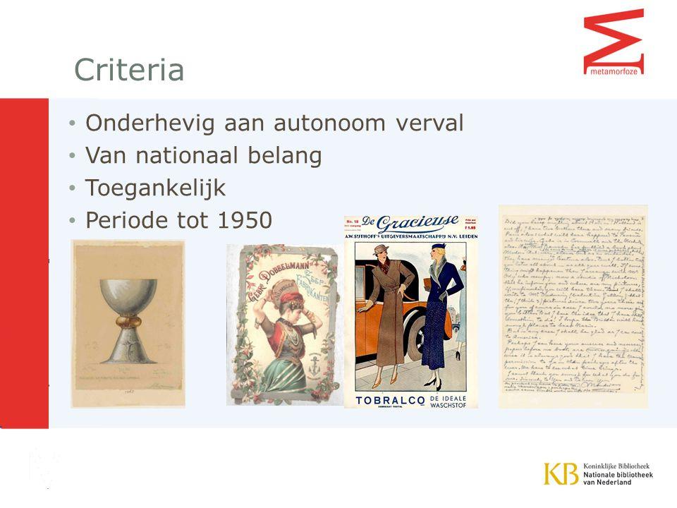 FOCUS BINNEN THEMA KUNST Een groot aantal letterkundige en algemeen-culturele tijdschriften zijn in het kader van Metamorfoze al geconserveerd.