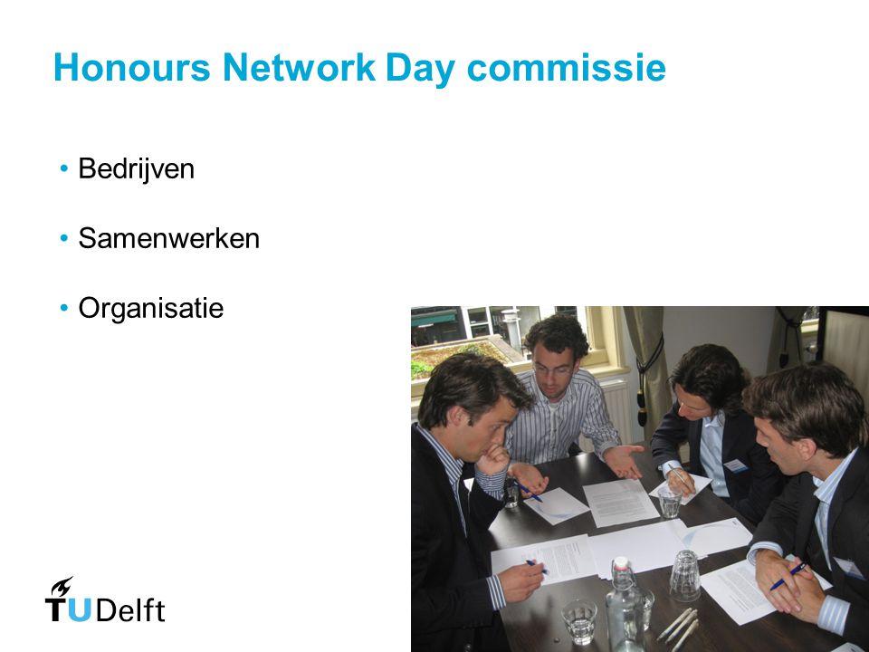 Honours Network Day commissie Bedrijven Samenwerken Organisatie