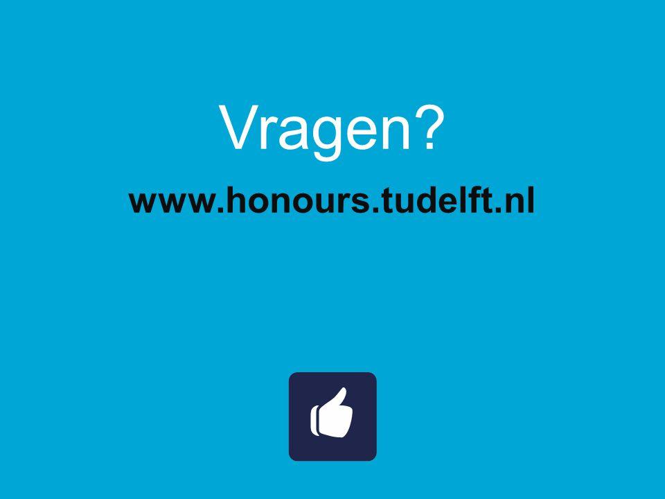 Vragen? www.honours.tudelft.nl