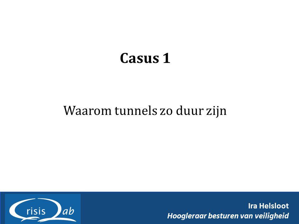 Casus 1 Waarom tunnels zo duur zijn Ira Helsloot Hoogleraar besturen van veiligheid