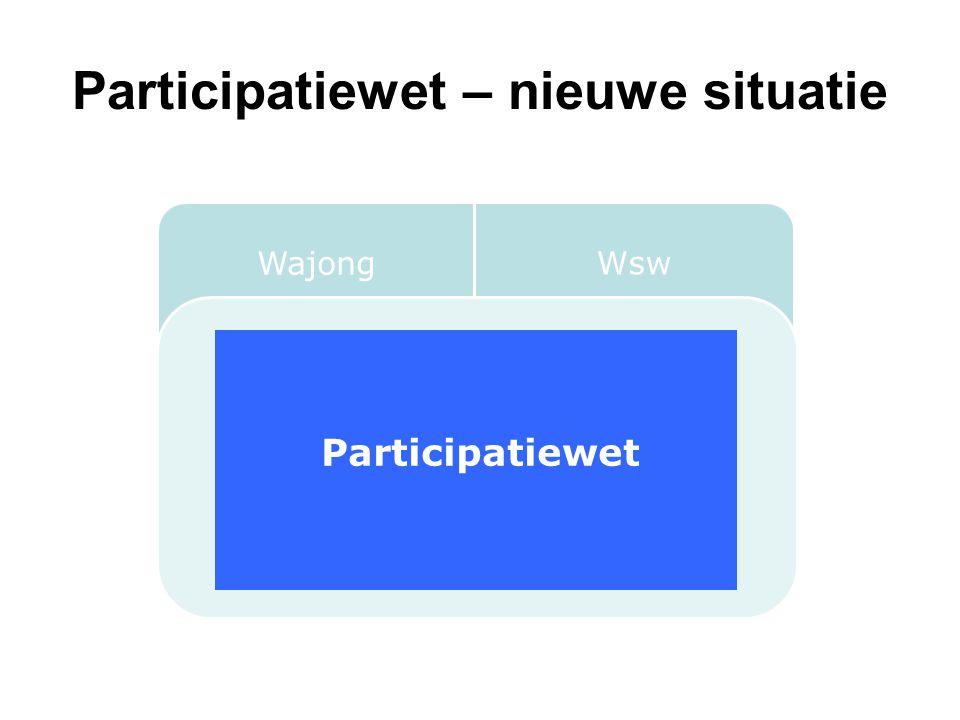 Participatiewet – nieuwe situatie Wajong Wsw Wet Werken naar Vermogen Participatiewet