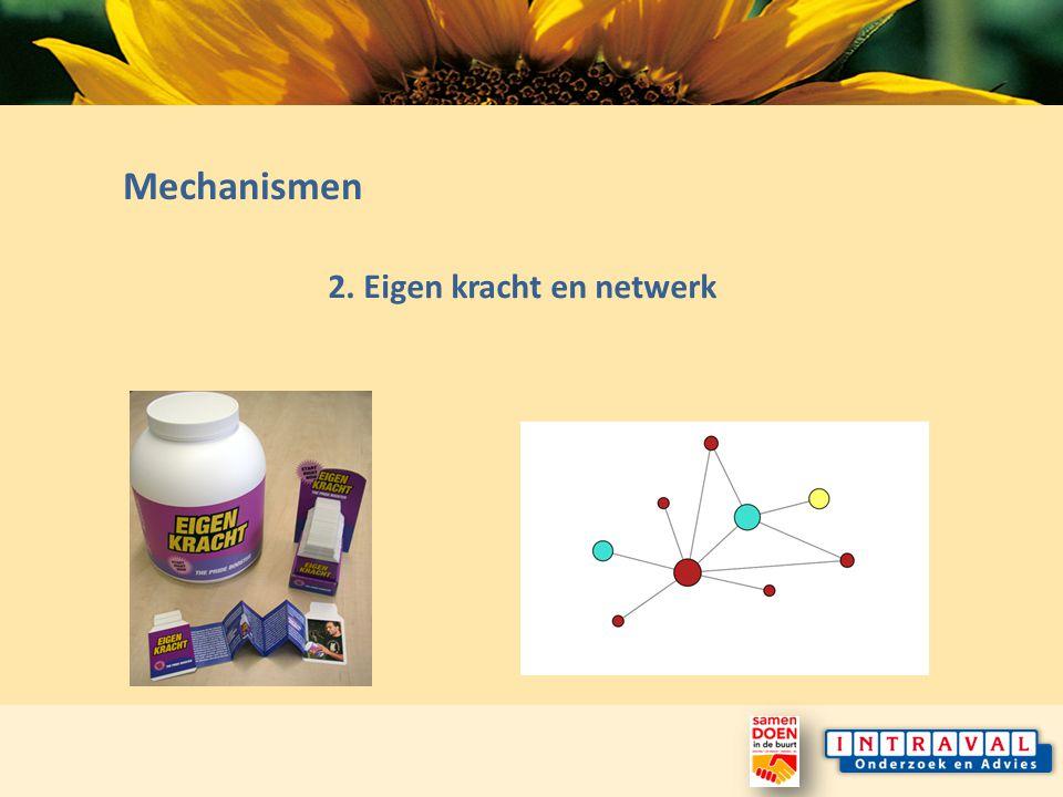 Mechanismen 2. Eigen kracht en netwerk