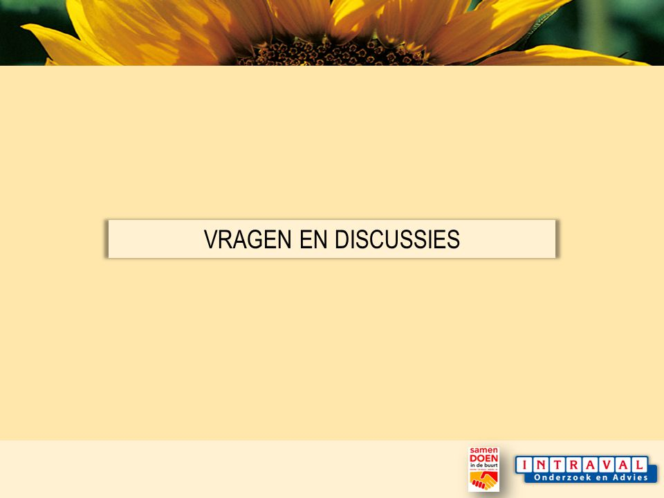 VRAGEN EN DISCUSSIES