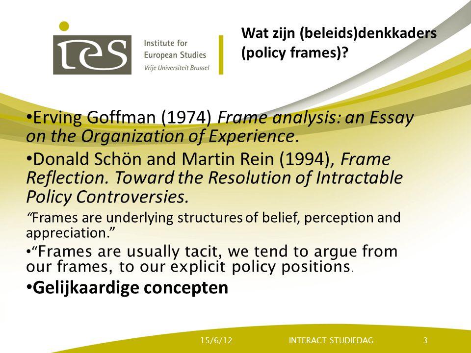 Wat zijn (beleids)denkkaders (policy frames).
