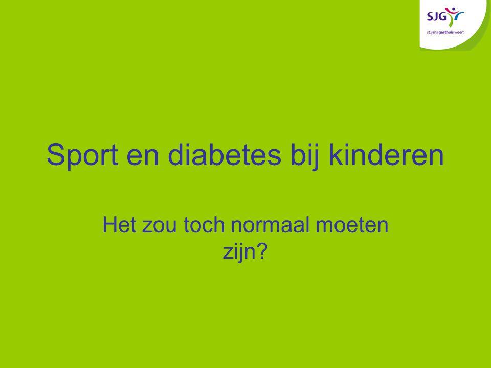 Sport en diabetes bij kinderen Het zou toch normaal moeten zijn?