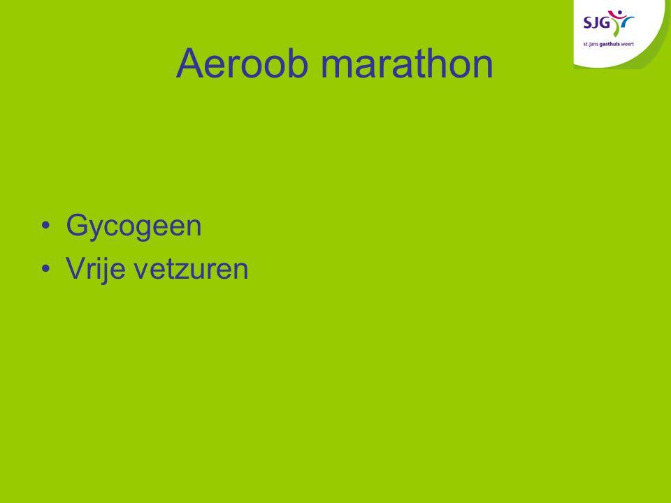 Aeroob marathon Gycogeen Vrije vetzuren