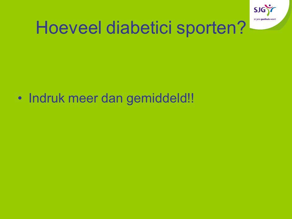 Hoeveel diabetici sporten? Indruk meer dan gemiddeld!!