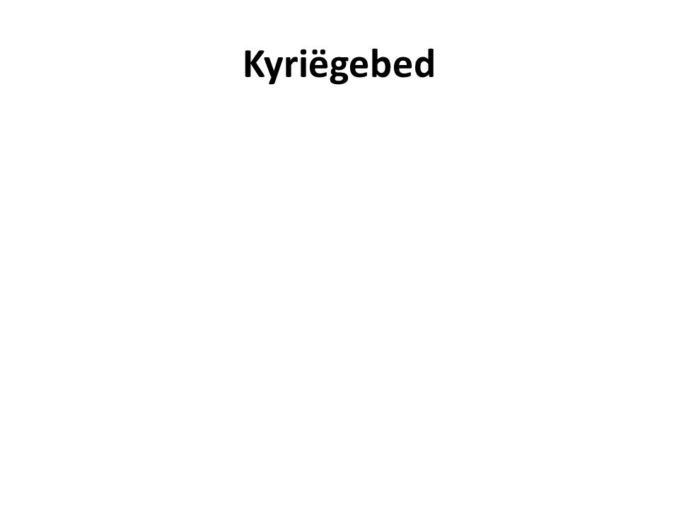 Kyriëgebed