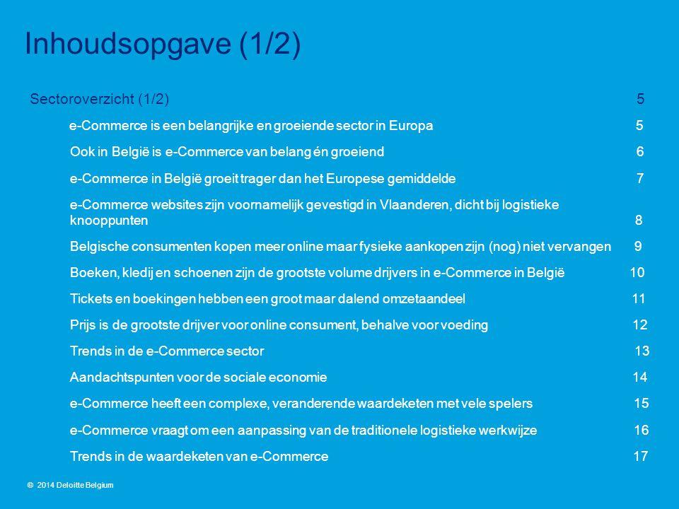 Sectoroverzicht (1/2) 5 e-Commerce is een belangrijke en groeiende sector in Europa 5 Ook in België is e-Commerce van belang én groeiend 6 e-Commerce