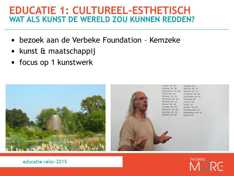 bezoek aan de Verbeke Foundation – Kemzeke kunst & maatschappij focus op 1 kunstwerk EDUCATIE 1: CULTUREEL-ESTHETISCH WAT ALS KUNST DE WERELD ZOU KUNN