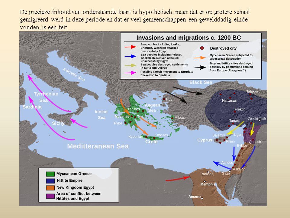 De precieze inhoud van onderstaande kaart is hypothetisch; maar dat er op grotere schaal gemigreerd werd in deze periode en dat er veel gemeenschappen