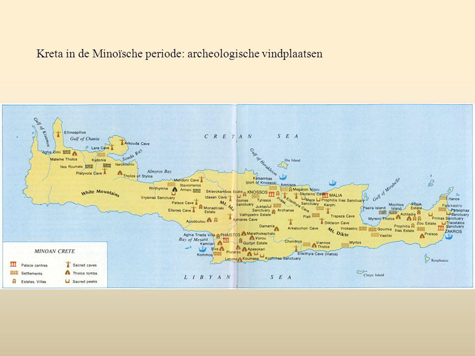 Kreta in de Minoïsche periode: archeologische vindplaatsen
