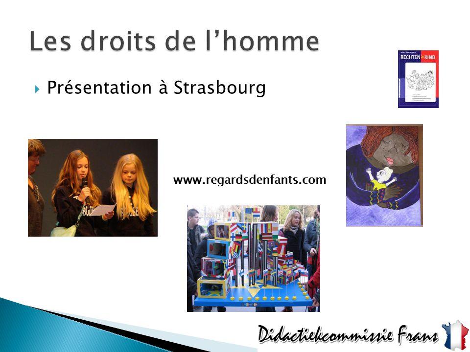  Présentation à Strasbourg www.regardsdenfants.com