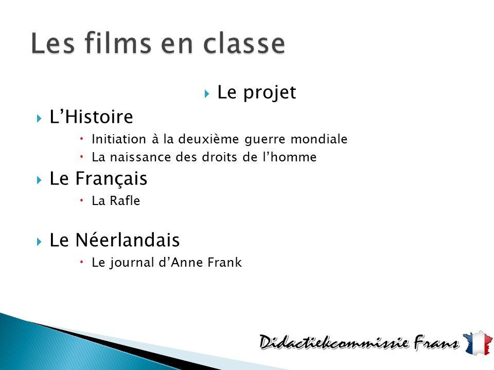  Le projet  L'Histoire  Initiation à la deuxième guerre mondiale  La naissance des droits de l'homme  Le Français  La Rafle  Le Néerlandais  L