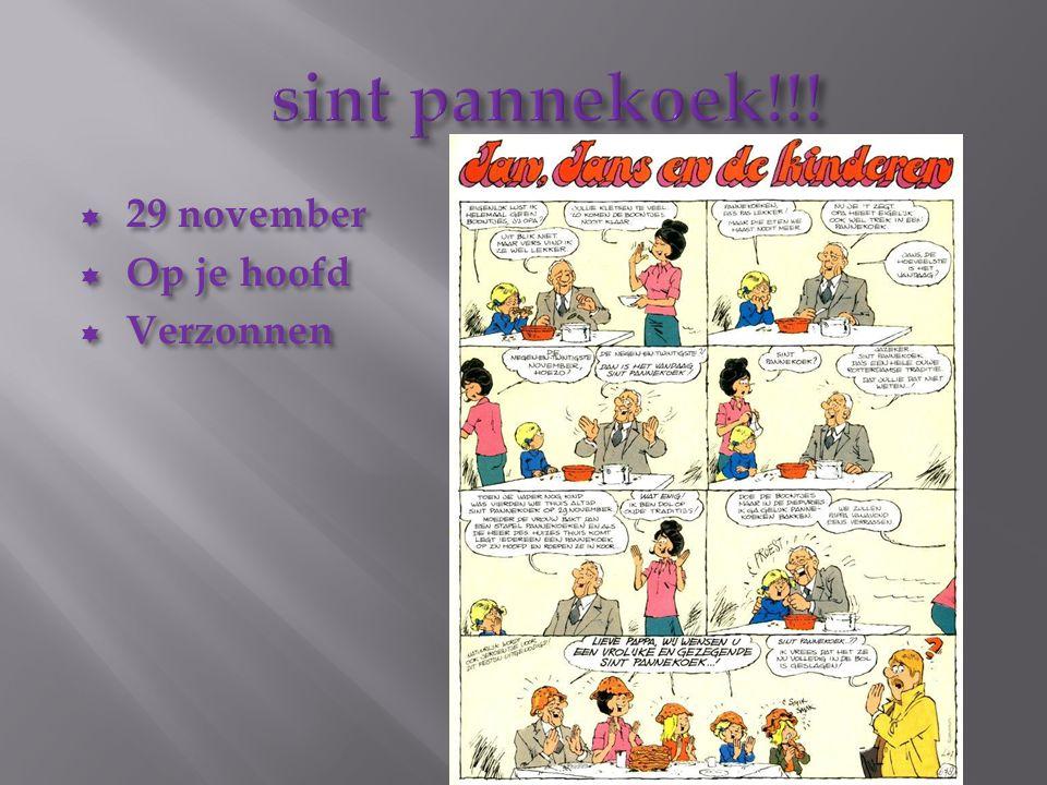  29 november  Op je hoofd  Verzonnen