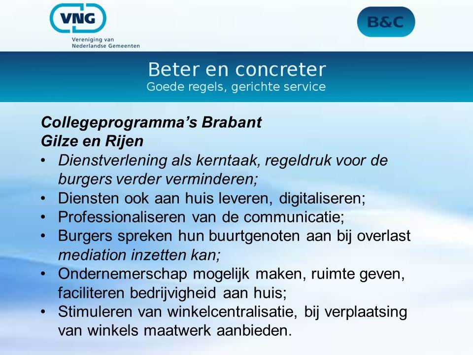 Collegeprogramma's Brabant Son en Breugel Ontwikkeling van het centrumgebied, versterken en uitbreiden van het winkelbestand (p.