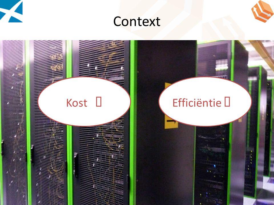 Virtuele consolidatie Consolidatie van fysieke servers Gemiddeld gebruik van server : 5-20% +70% van niet geconsolideerde servers makkelijk te consolideren 27