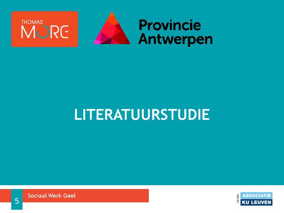 LITERATUURSTUDIE Sociaal Werk Geel 5
