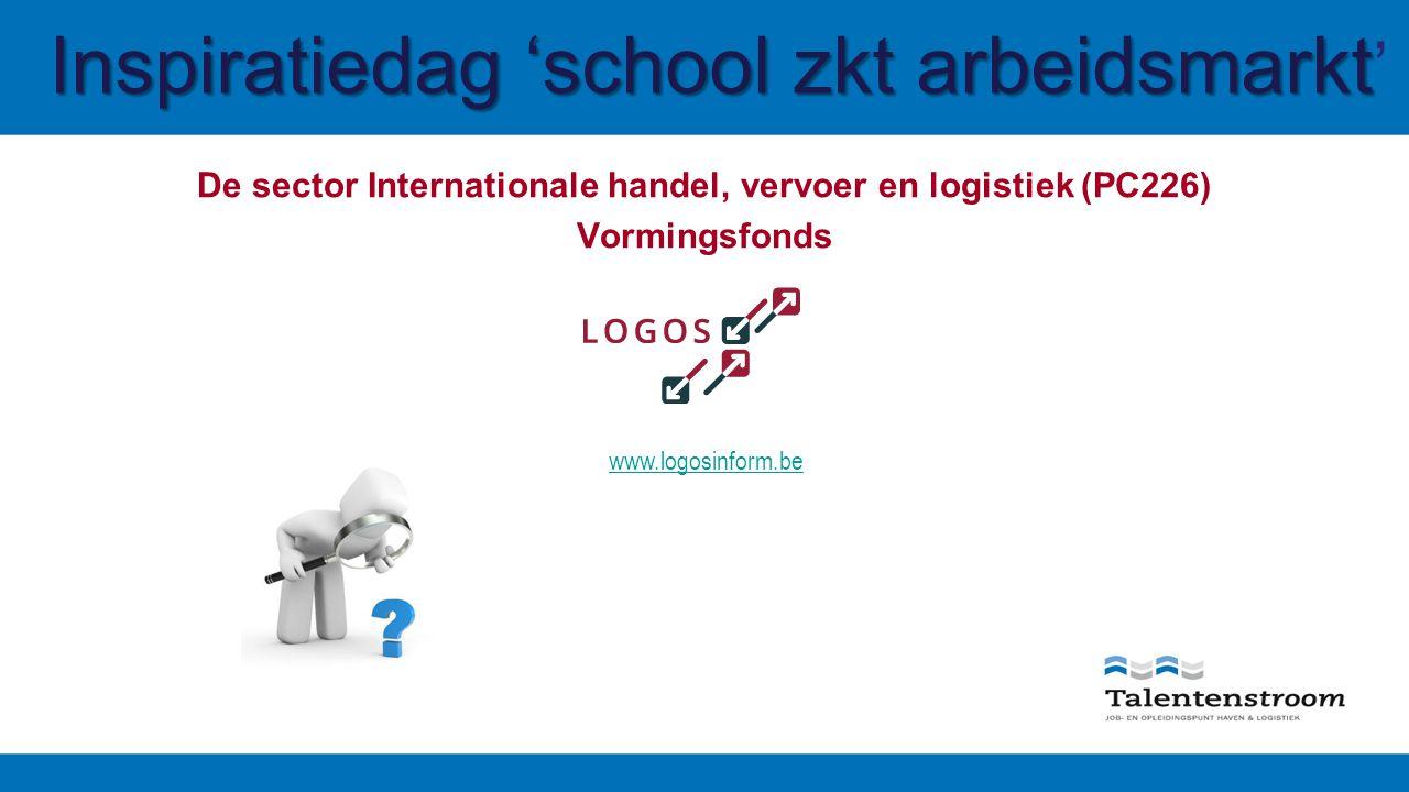 Inspiratiedag 'school zkt arbeidsmarkt Inspiratiedag 'school zkt arbeidsmarkt ' De sector Internationale handel, vervoer en logistiek (PC226) Vormingsfonds www.logosinform.be