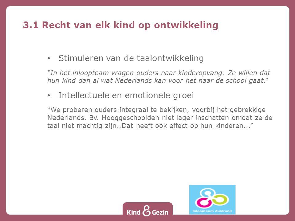 """Stimuleren van de taalontwikkeling """"In het inloopteam vragen ouders naar kinderopvang. Ze willen dat hun kind dan al wat Nederlands kan voor het naar"""