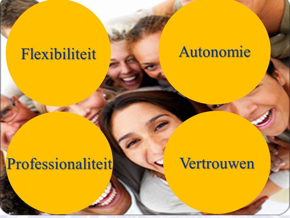 Flexibiliteit Professionaliteit Autonomie Vertrouwen