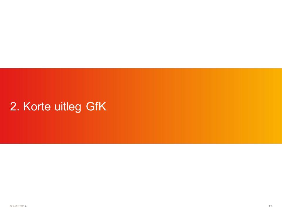 © GfK 201413 2. Korte uitleg GfK