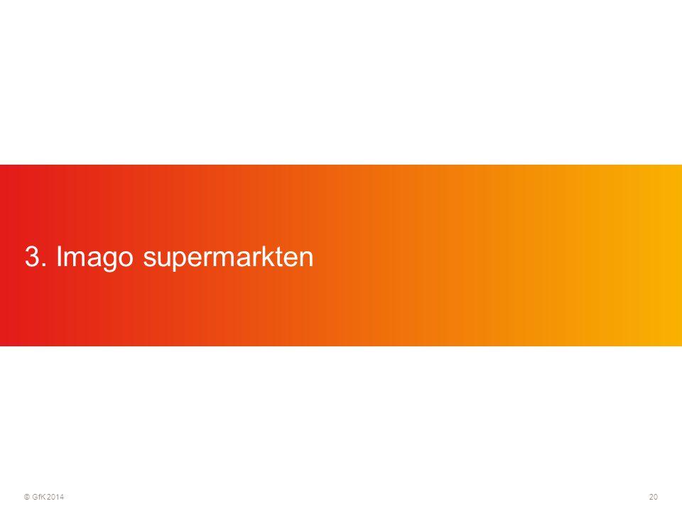 © GfK 201420 3. Imago supermarkten