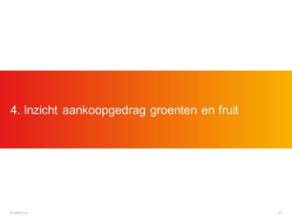 © GfK 201427 4. Inzicht aankoopgedrag groenten en fruit