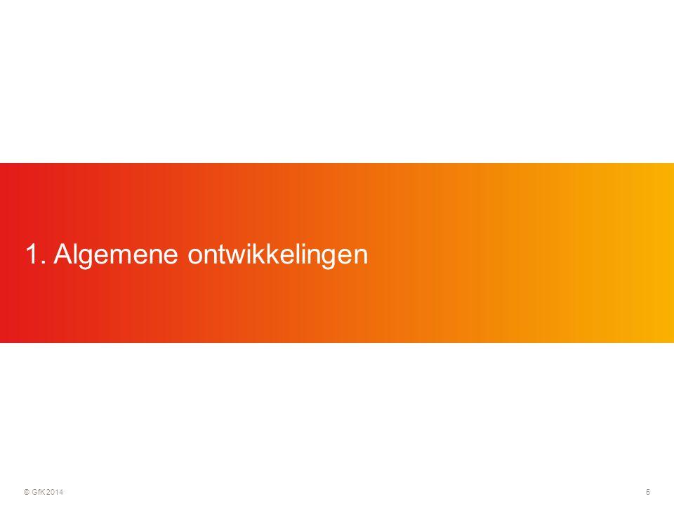 © GfK 201416  10,000 huishoudens in Nederland, 5,000 in België  Continue registratie door middel van in-home scanning, dagelijks  Zowel FMCG's met- als zonder barcode  Zowel supermarkten (incluis Aldi, Lidl, Koopconsult) als speciaalzaken (drogisterijen, bakkers, slagers, etc.)  Niveau; merk, afzetkanaal, marktsegment, consument, etc.
