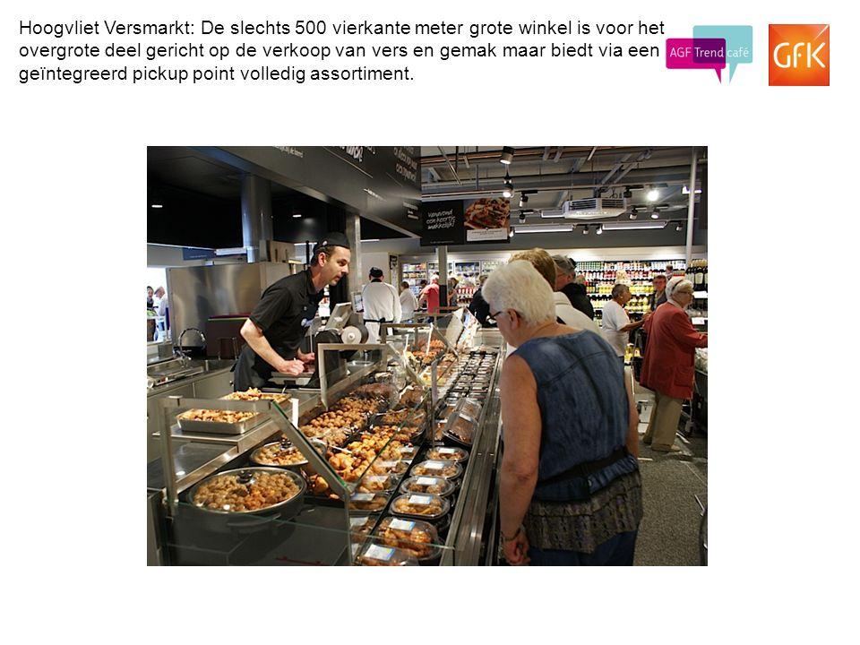 © GfK 20149 Hoogvliet Versmarkt: De slechts 500 vierkante meter grote winkel is voor het overgrote deel gericht op de verkoop van vers en gemak maar b