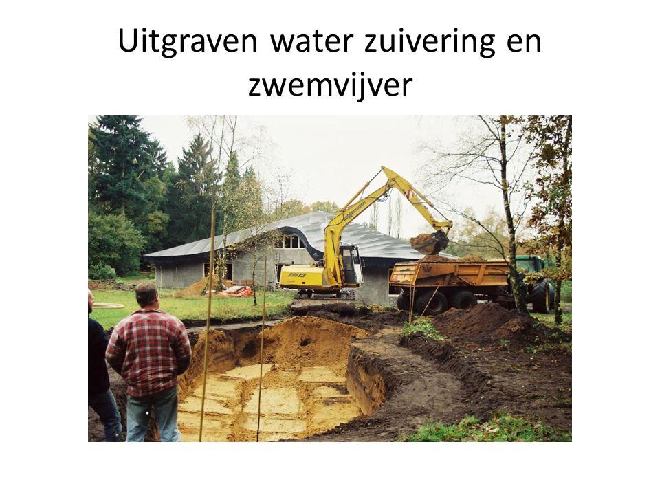 Uitgraven water zuivering en zwemvijver