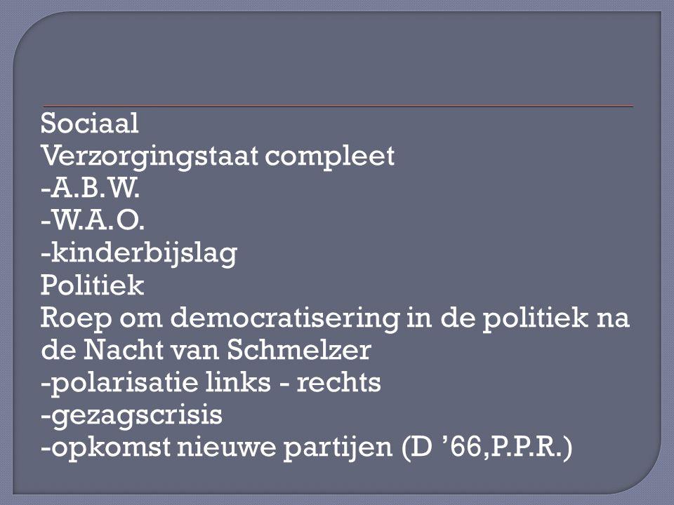 Sociaal Verzorgingstaat compleet -A.B.W.-W.A.O.