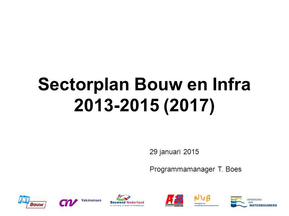Sectorplan Bouw en Infra 2013-2015 (2017) 29 januari 2015 Programmamanager T. Boes