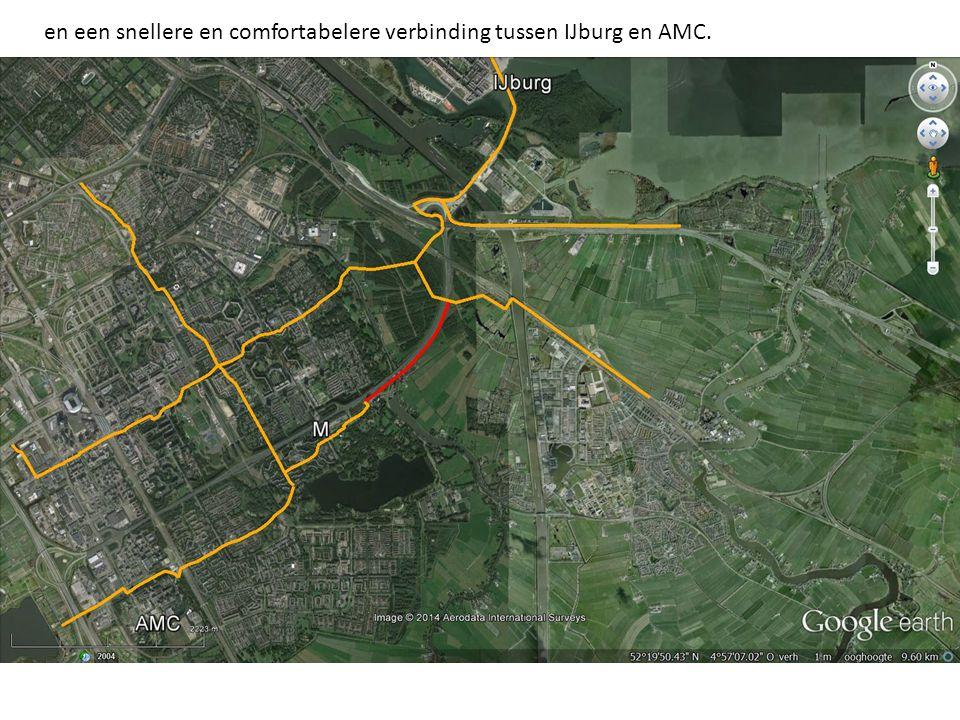en een snellere en comfortabelere verbinding tussen IJburg en AMC.