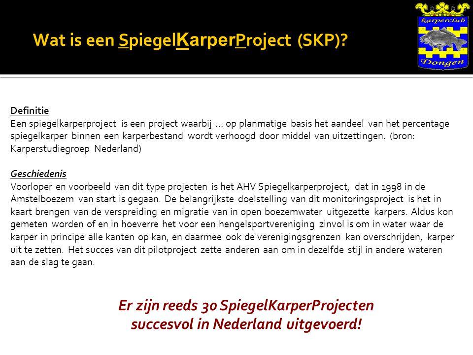 Wat is een Spiegel Karper Project (SKP).