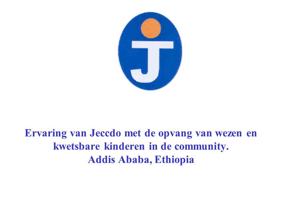 Ervaring van Jeccdo met de opvang van wezen en kwetsbare kinderen in de community.