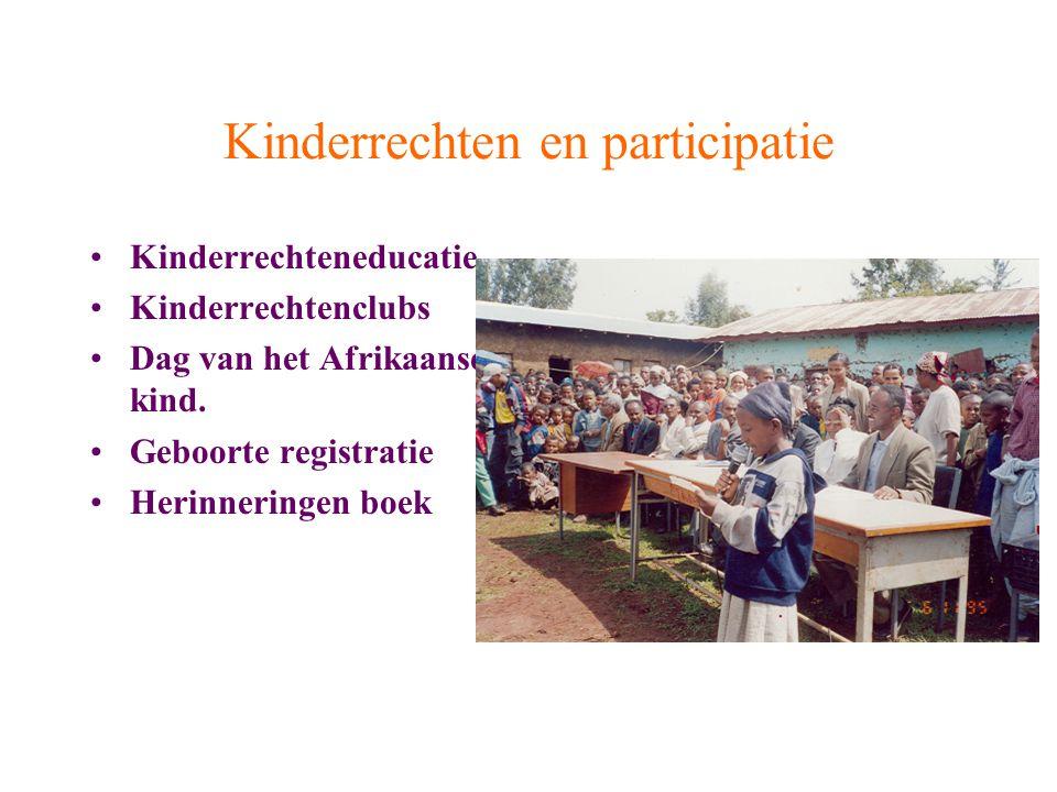 Kinderrechten en participatie Kinderrechteneducatie Kinderrechtenclubs Dag van het Afrikaanse kind.
