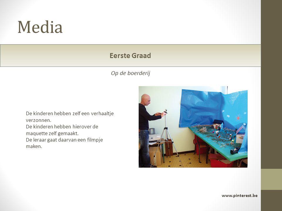 Media www.pinterest.be De kinderen hebben zelf een verhaaltje verzonnen. De kinderen hebben hierover de maquette zelf gemaakt. De leraar gaat daarvan