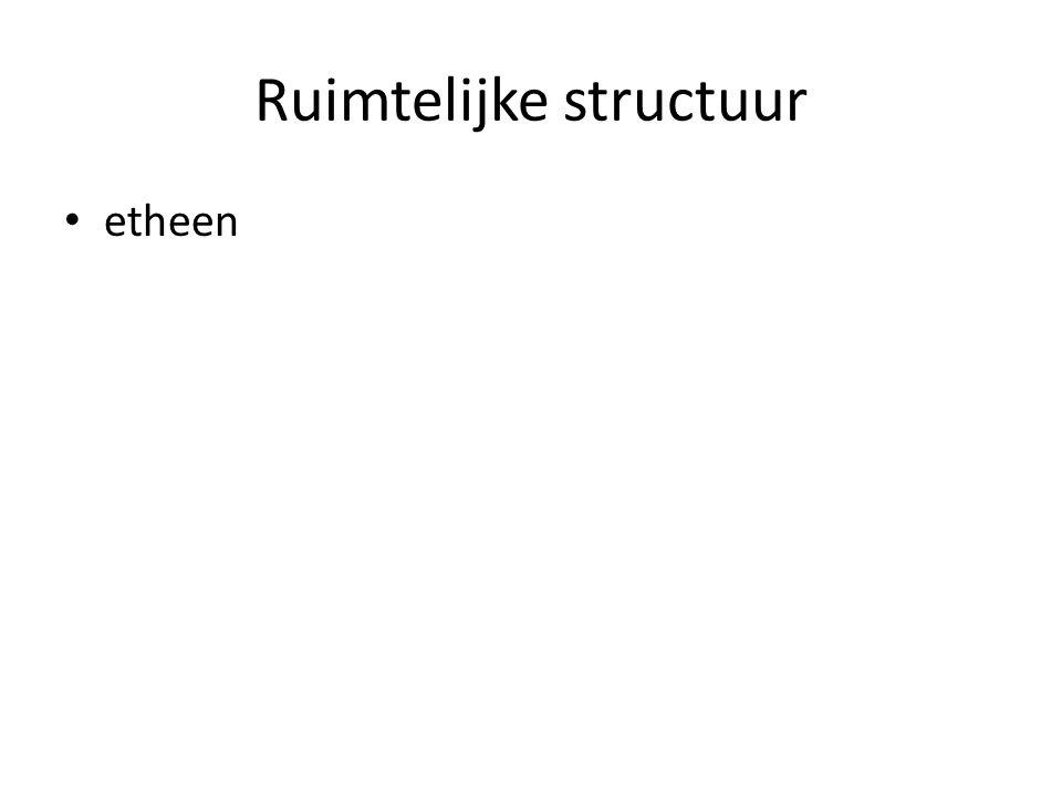 Ruimtelijke structuur etheen