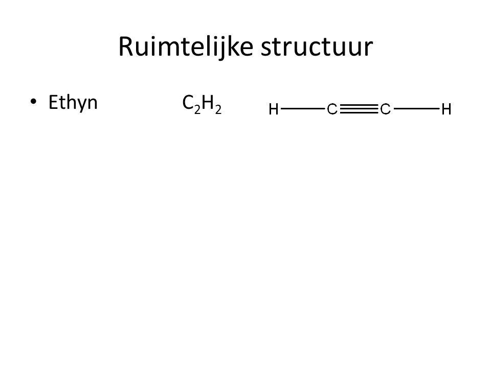 Ruimtelijke structuur Ethyn C 2 H 2