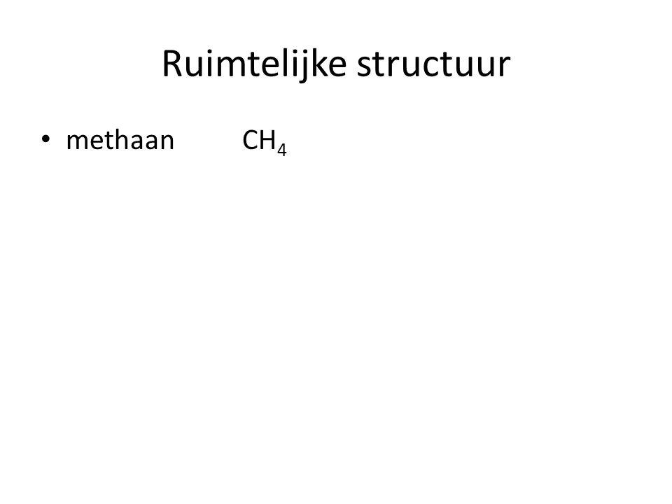Ruimtelijke structuur Etheen C 2 H 4 dubbele binding niet vrij draaibaar